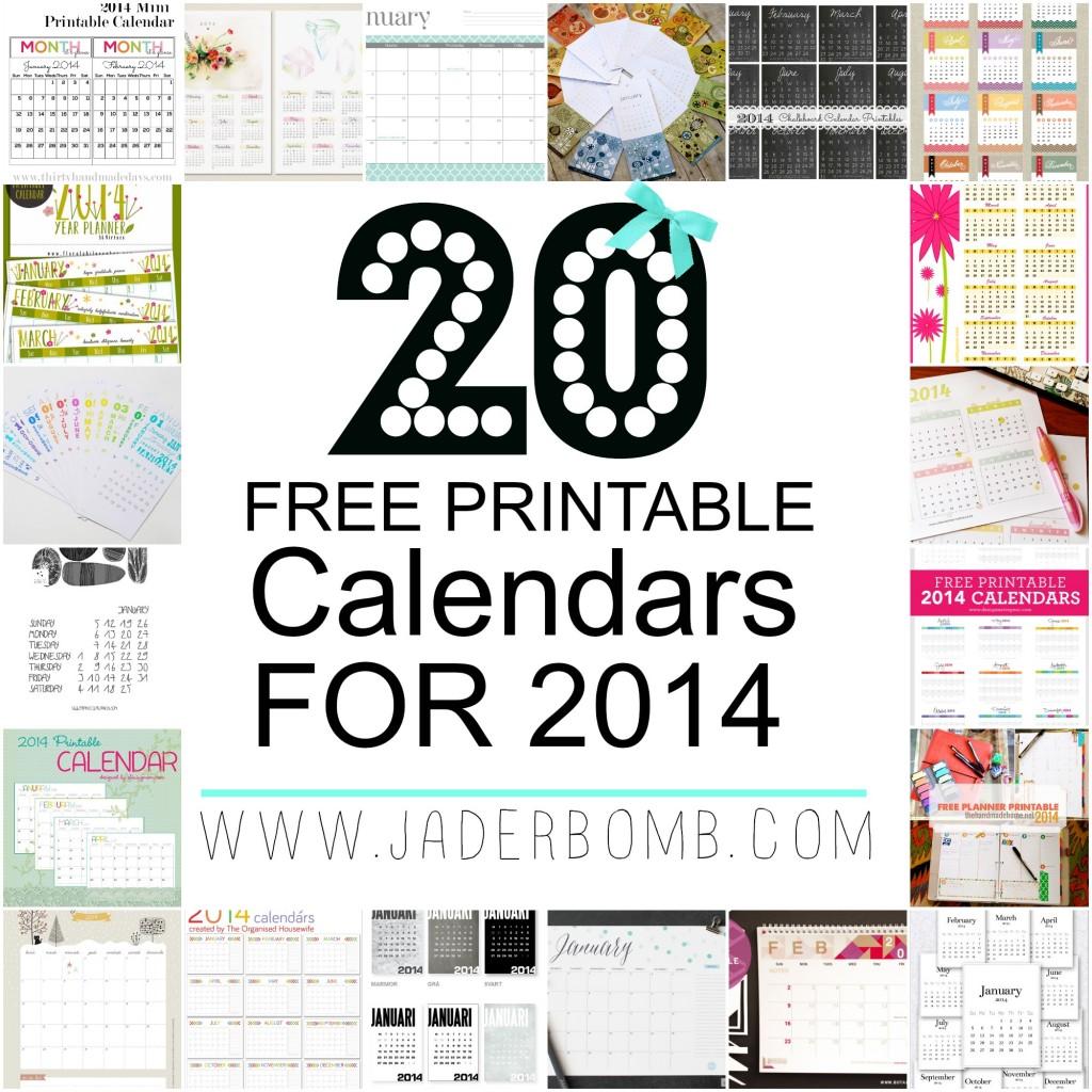 20 FREE PRINTABLE CALENDARS 2014 - WWW.JADERBOMB.COM.jpg