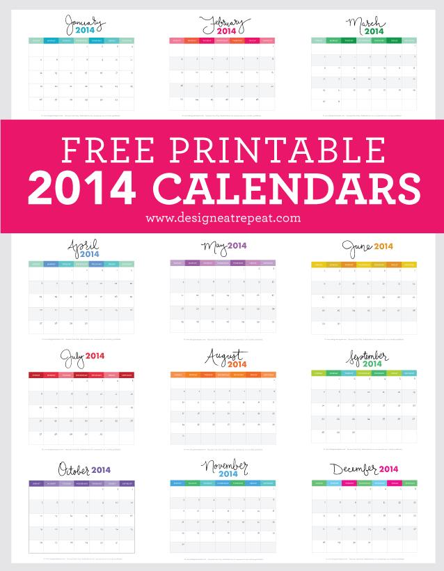 Free-Printable-2014-Calendars-Download-at-Design-Eat-Repeat