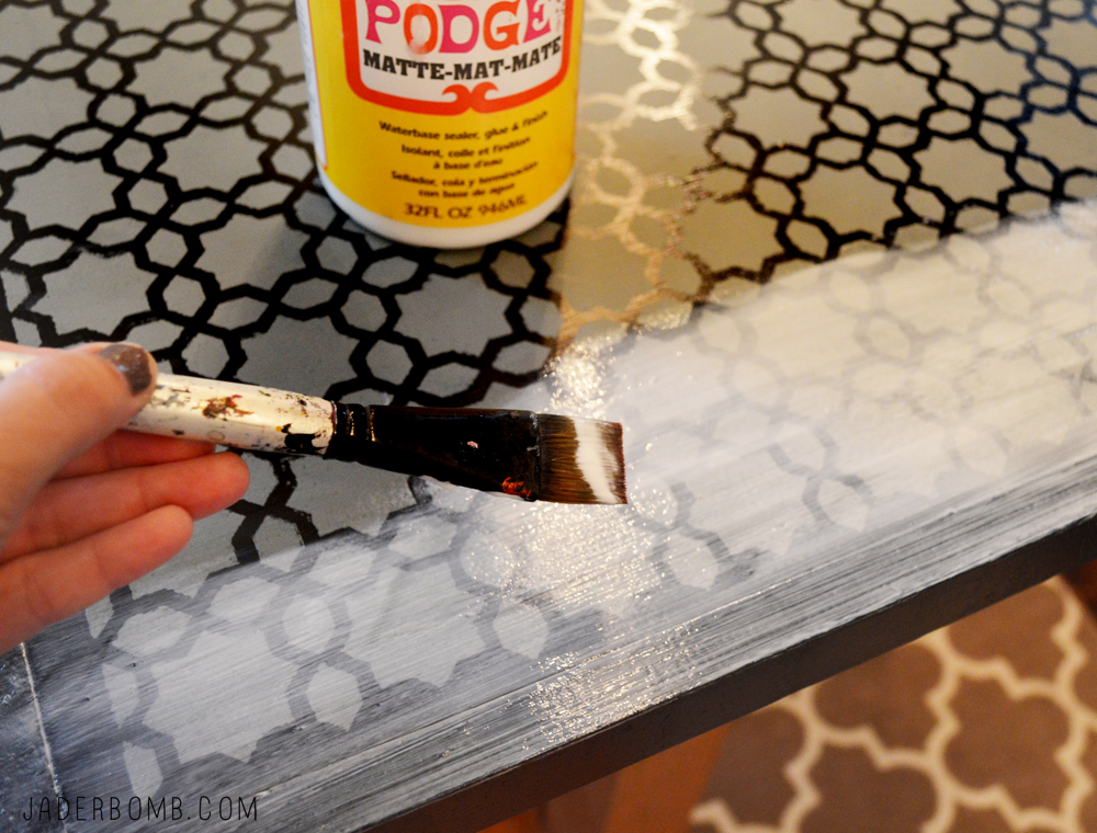 How to mod podge wood - JADERBOMB