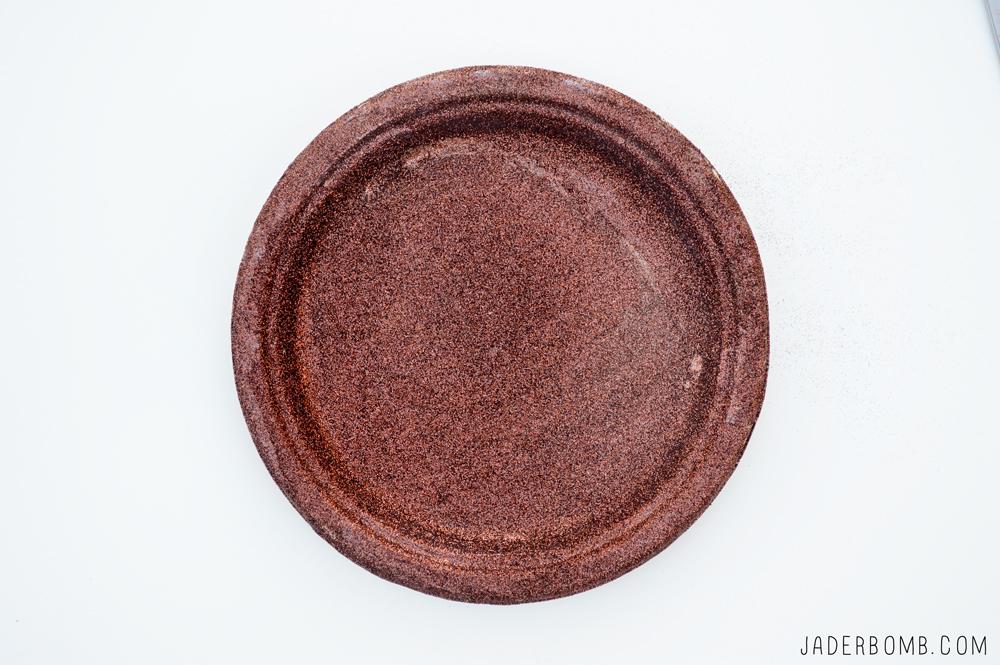 glittered plate