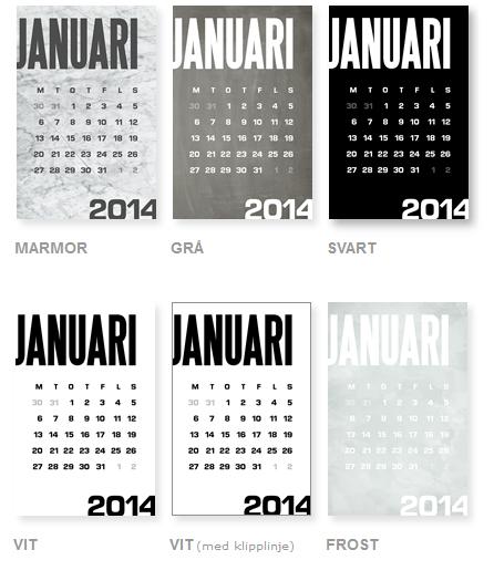 modern calendar freebie