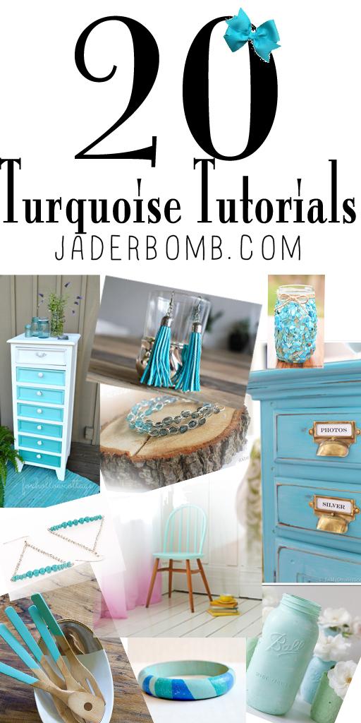 20 turquoise tutorials pinterest