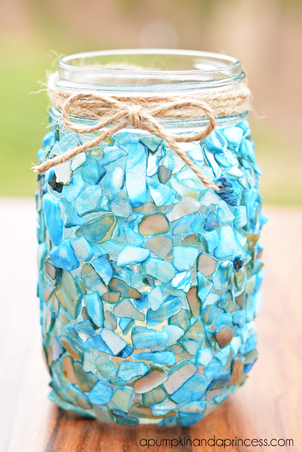 Beach-Mason-Jar-Lantern-Craft