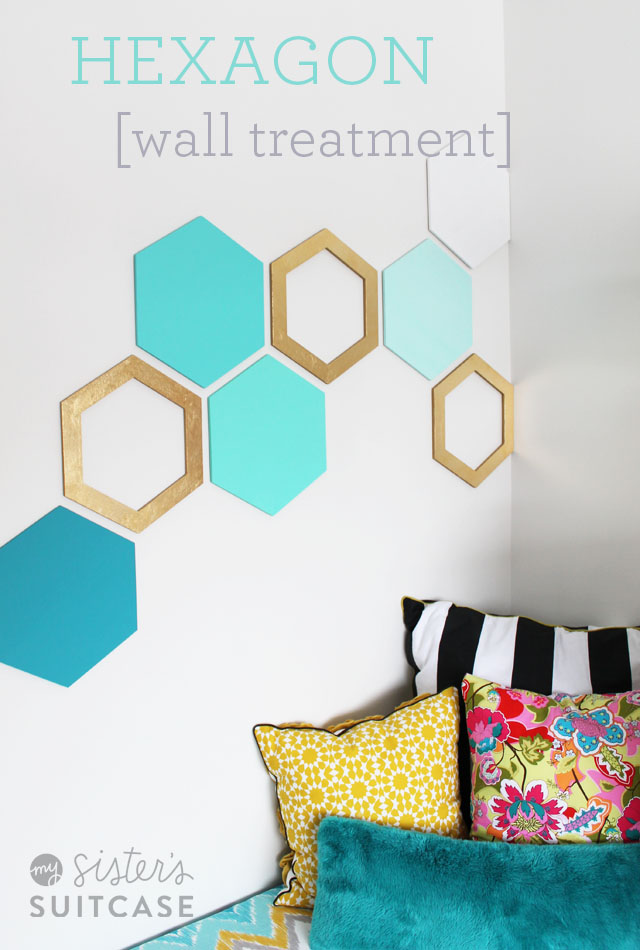 Turquoise Wall Treatment