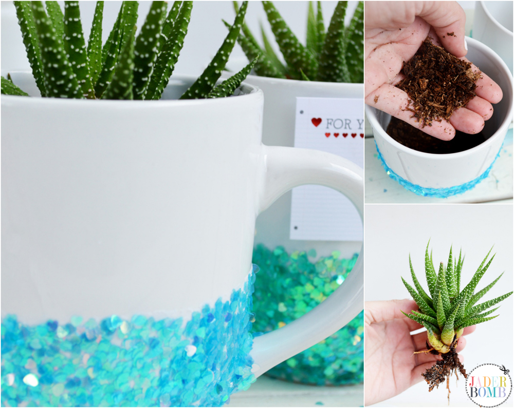how to make a mug planter