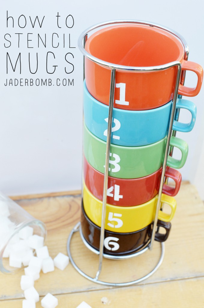 numbered mugs