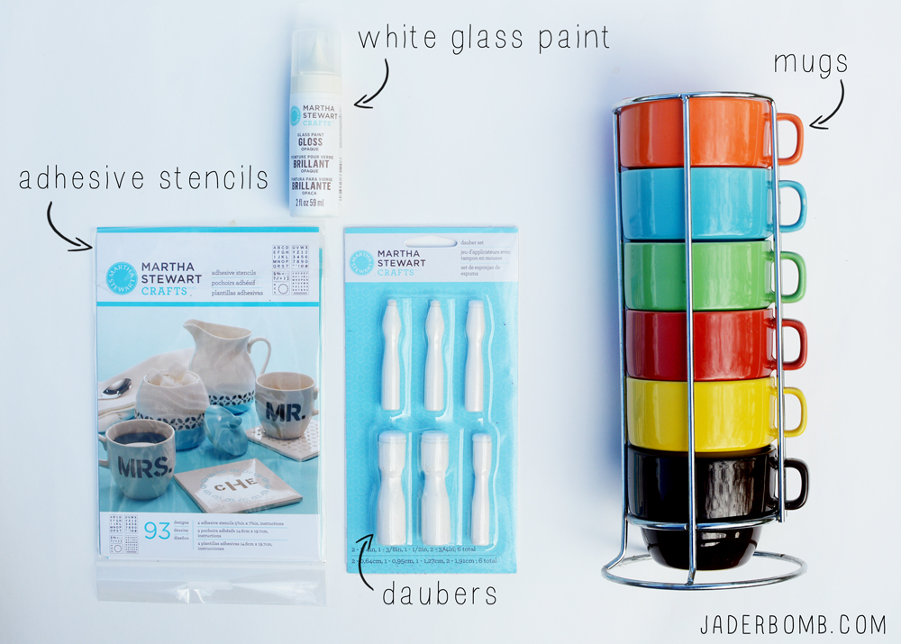 How to Stencil Mugs