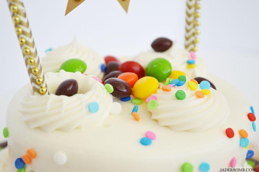 easy skittles cake
