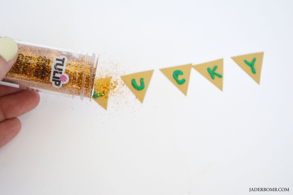 gold glitter crafts