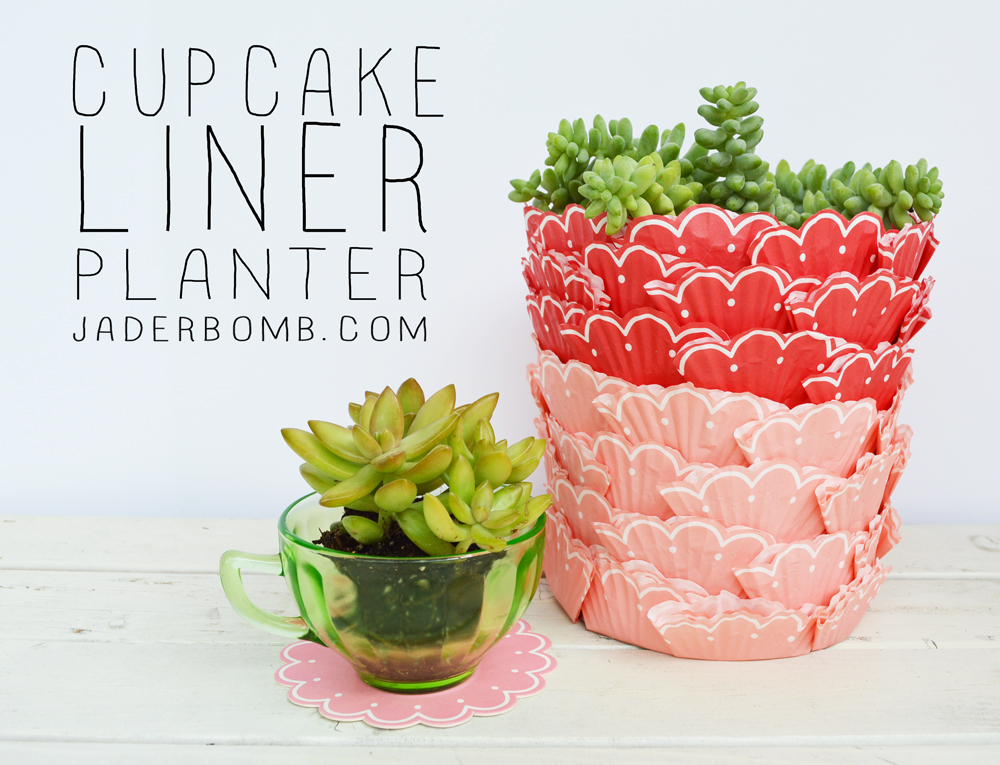 Cupcake Liner Planter