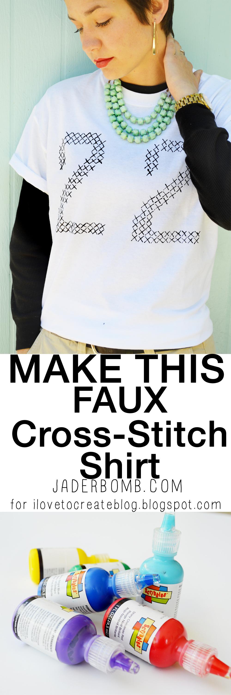 Painted Cross Stitch Shirt