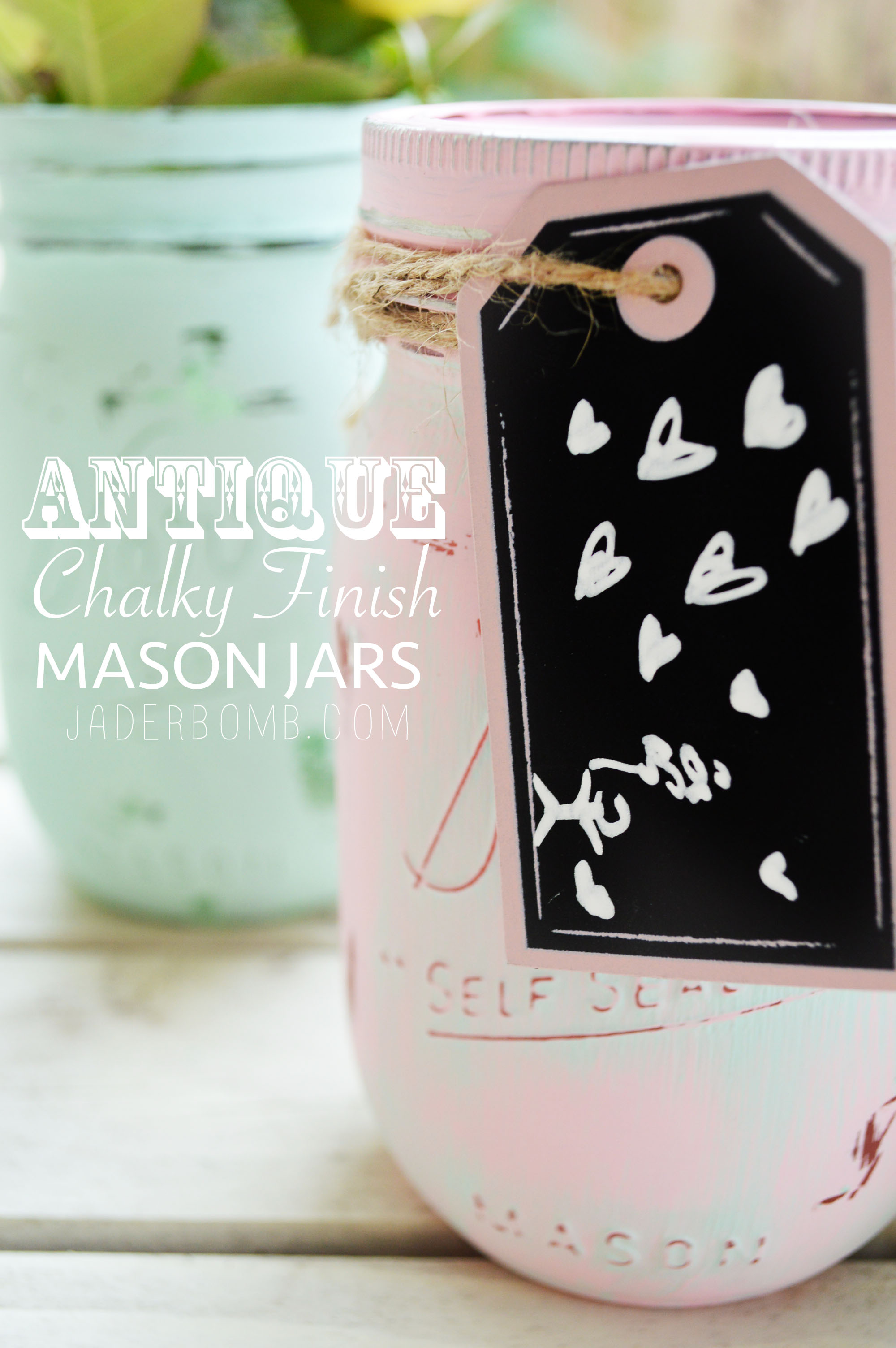 ANTIQUE CHALKBOARD MASON JARS