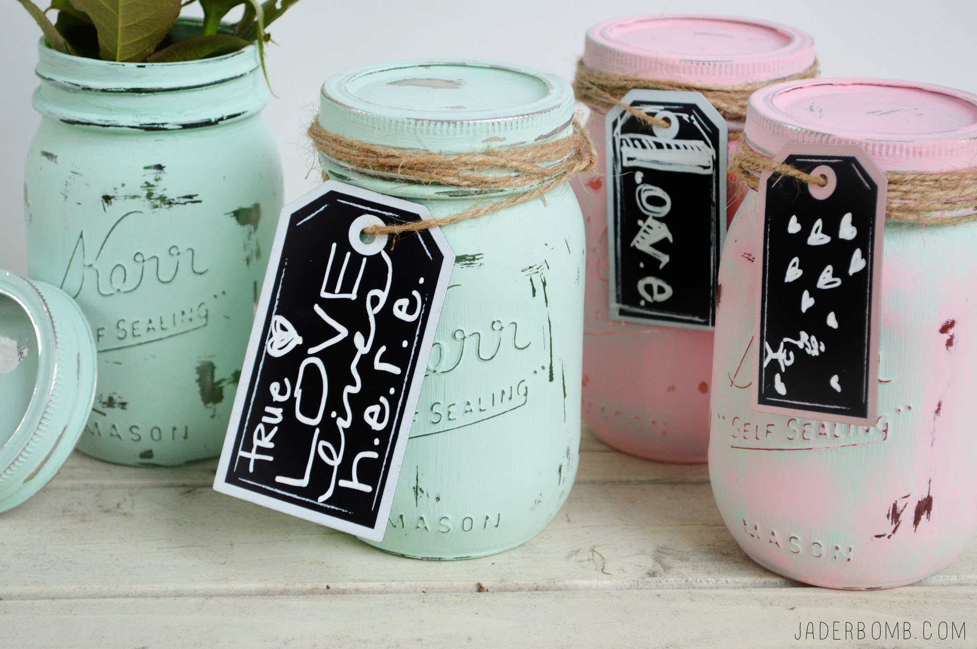 HOW TO MAKE VINTAGE MASON JARS