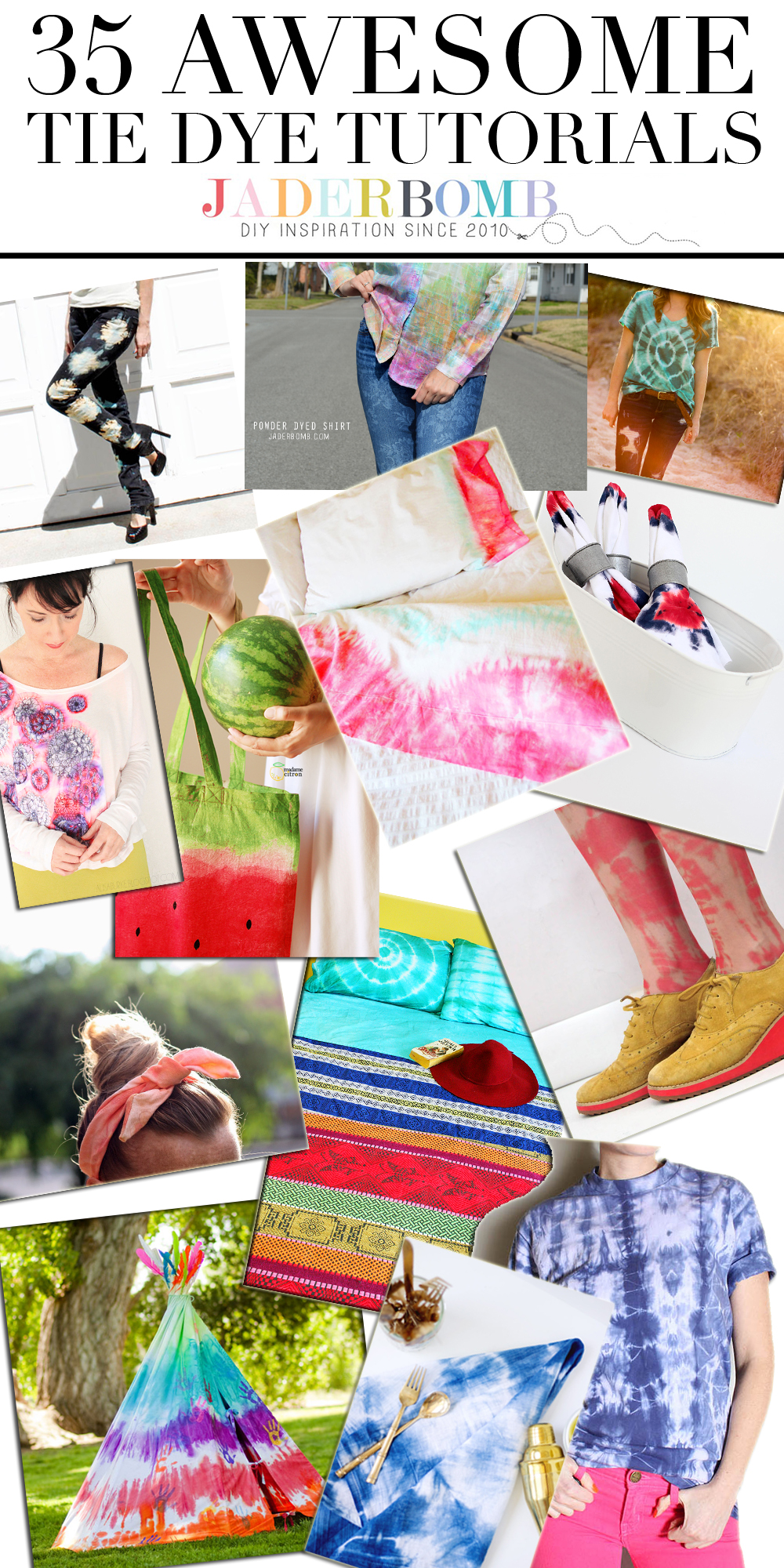 35 AWESOME Tie-Dye Tutorials