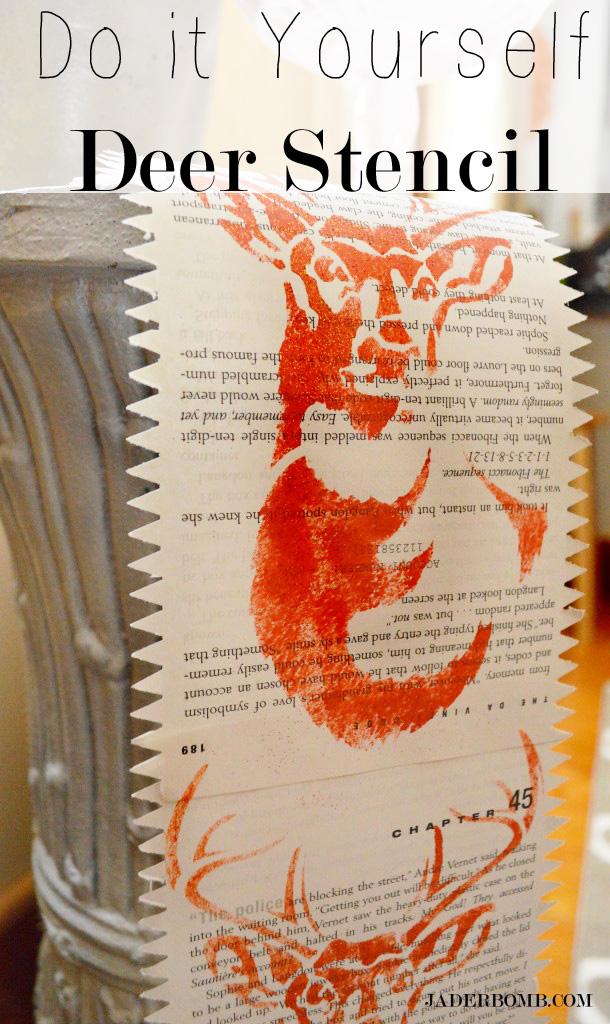 Stencil 1- Deer Stencil Table Liner