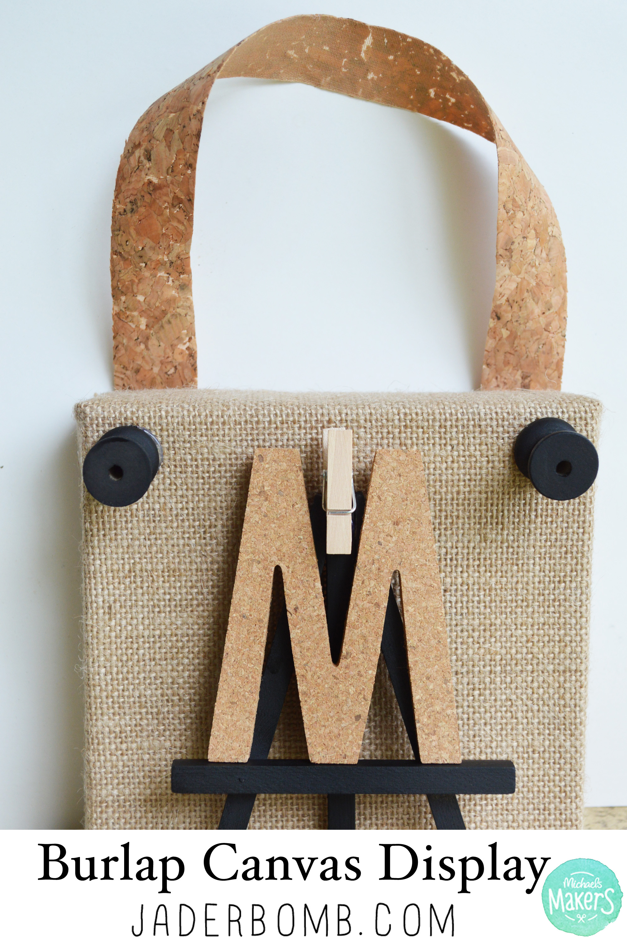 burlap canvas display