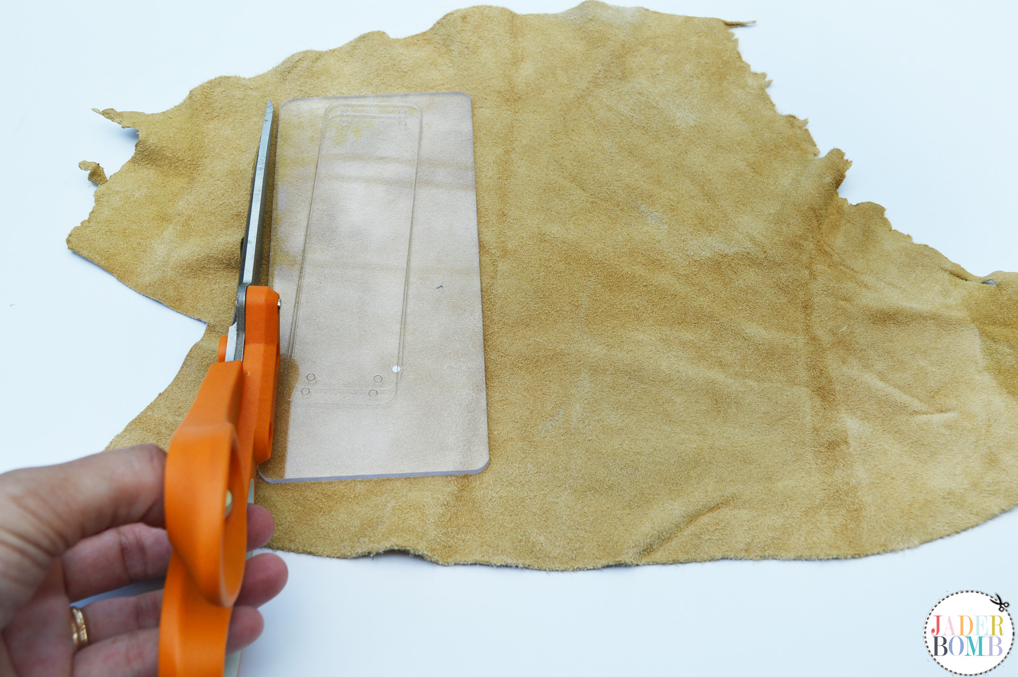 cutting leather