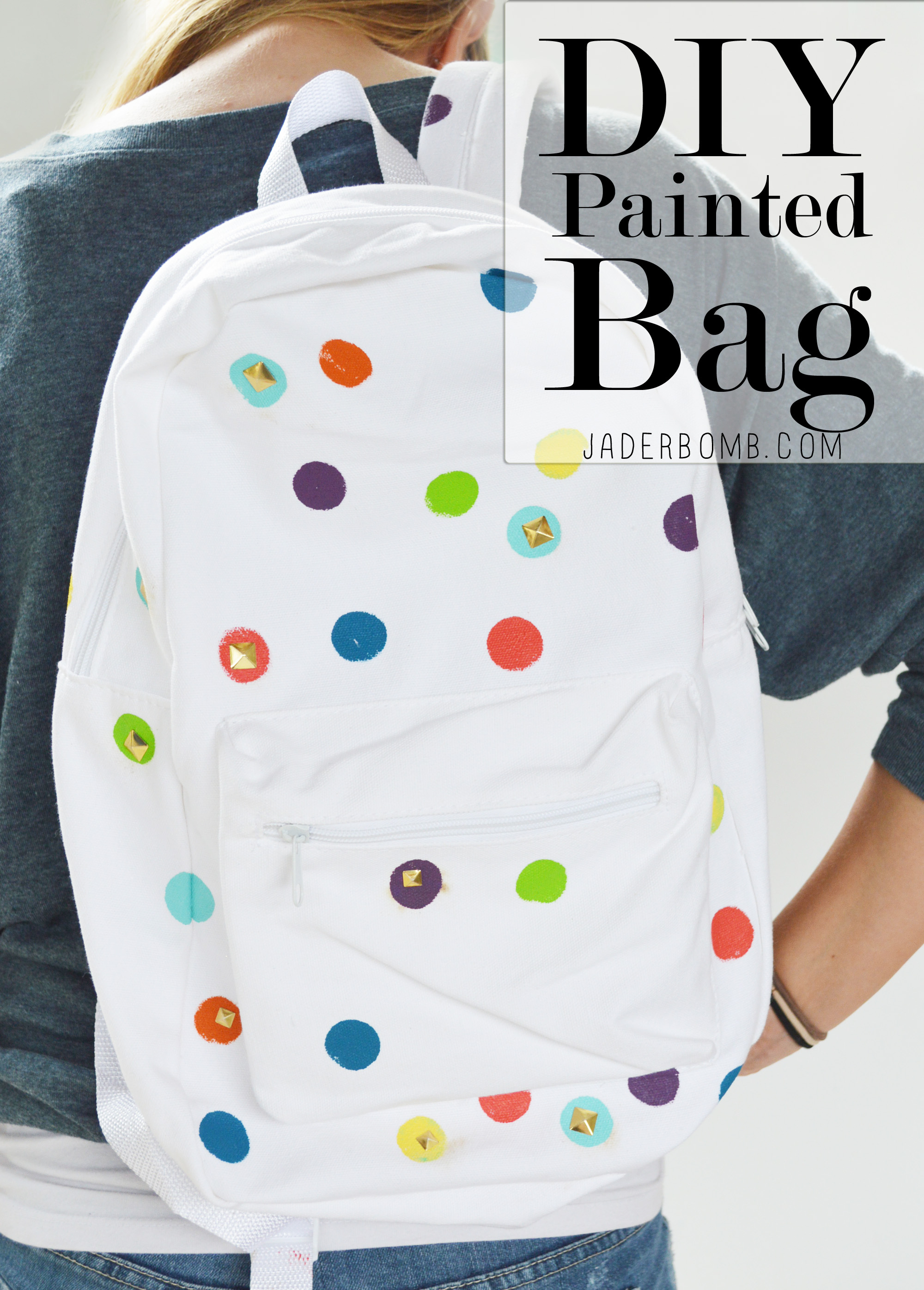 diy painted bag michaels back to school