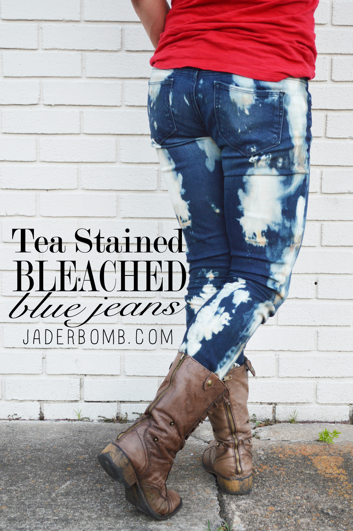 how to make bleached jeans
