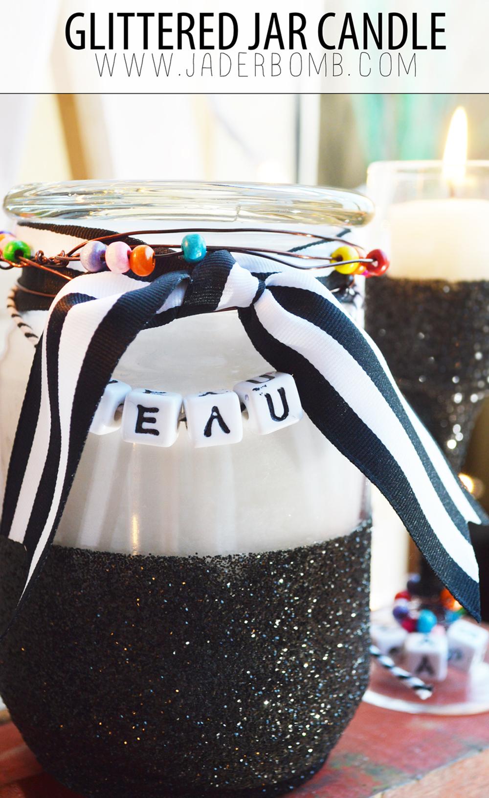 Glittered Jar Candle