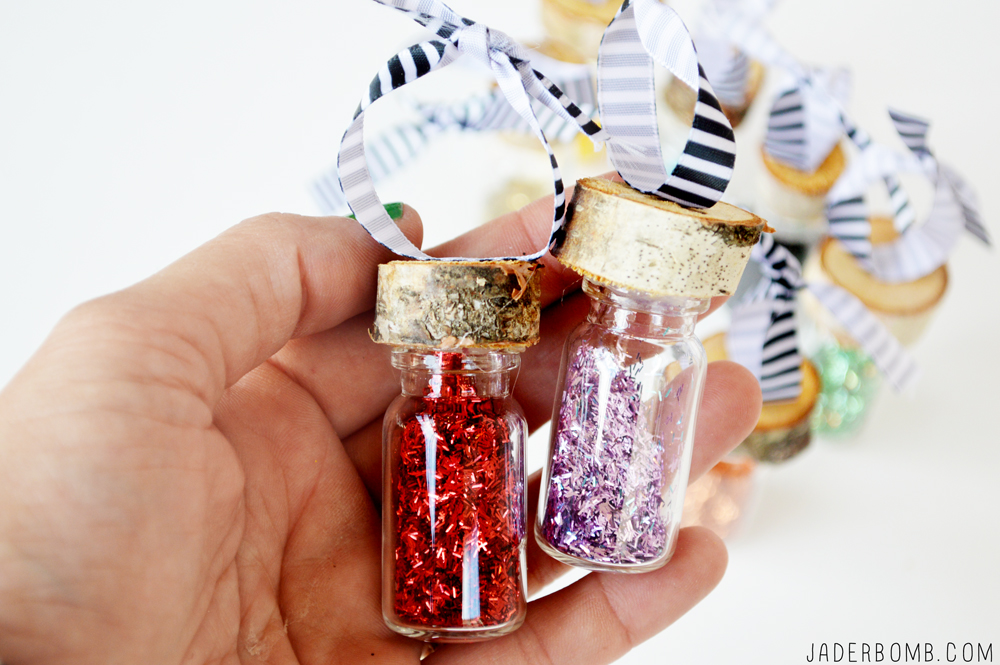glass glitter jars