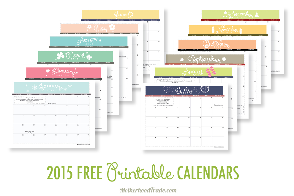 Printable Calendar March April 2015