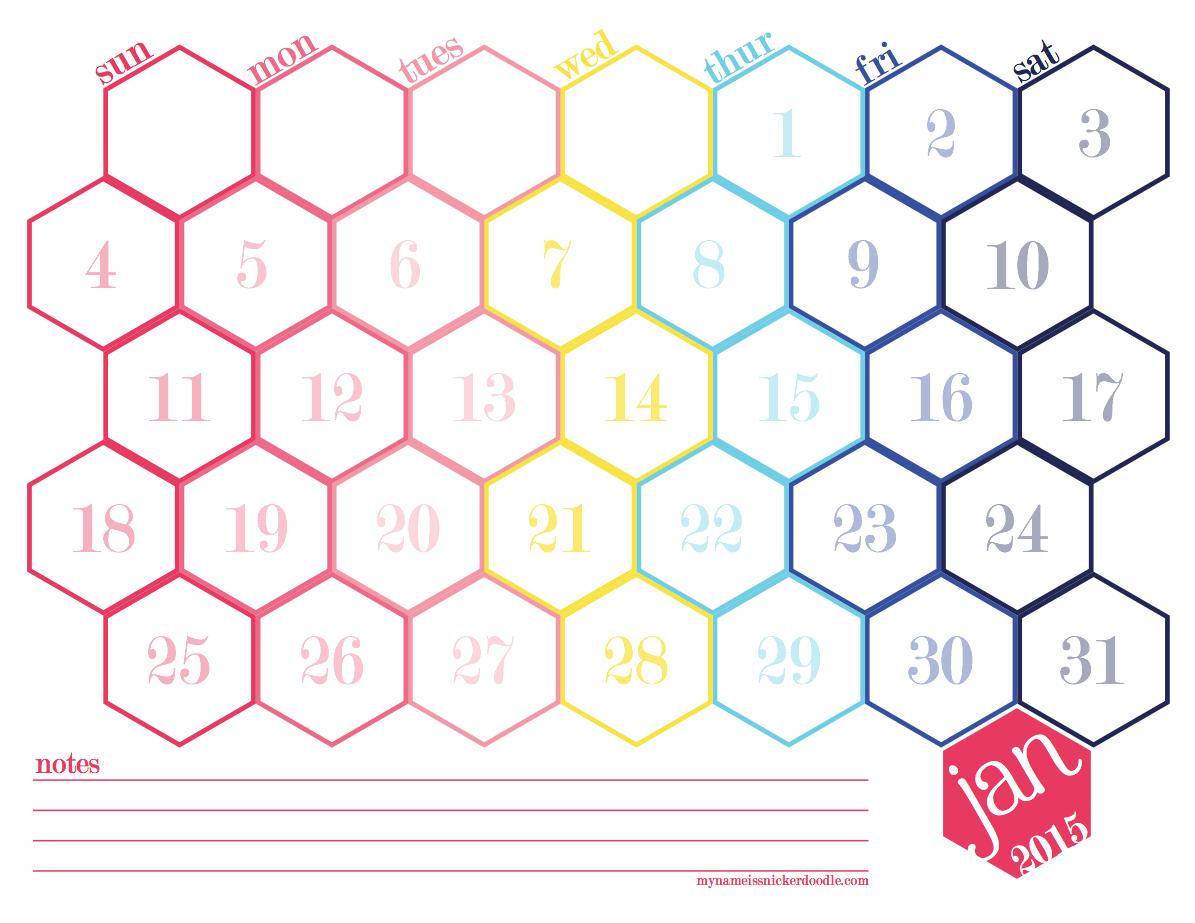 Hexagon Calendar