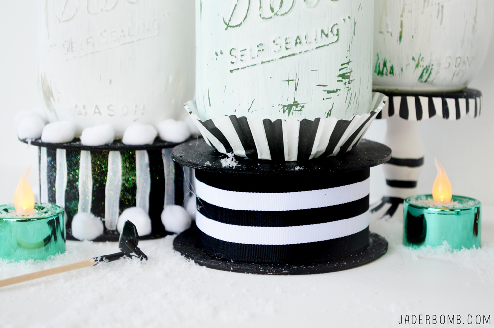 black and white stripe crafts