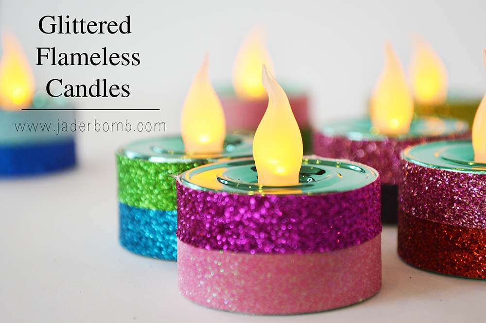 easy flameless candle crafts
