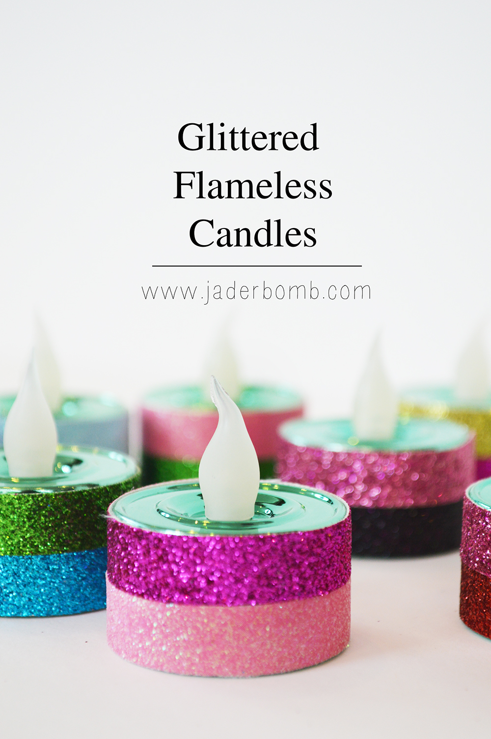 New Years Eve Glittered Candles