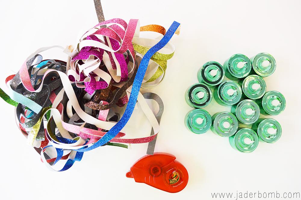 glittered ribbon tutorial