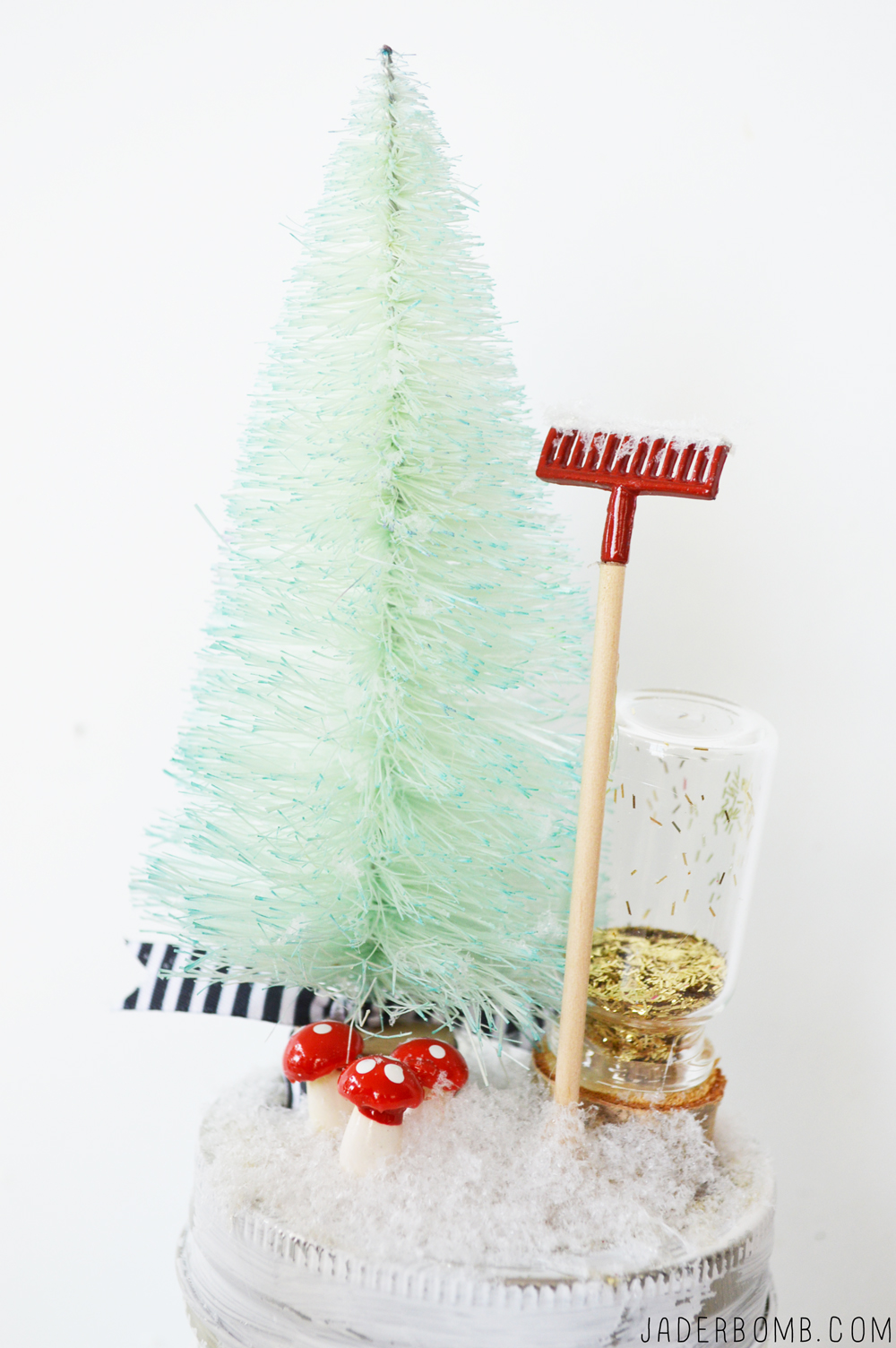 how to dye bottle brush trees