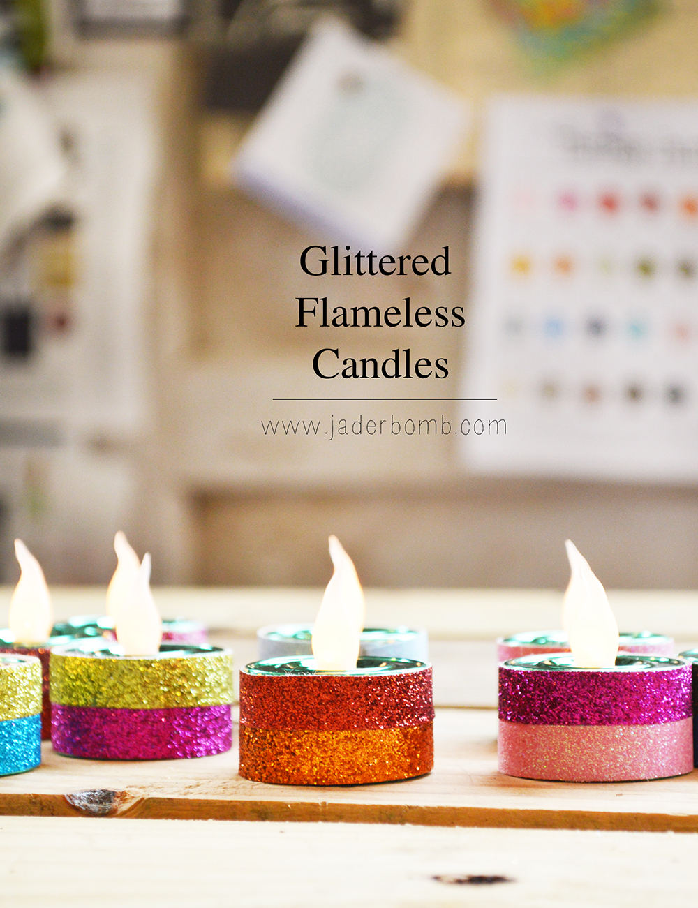 how to make glittered decorations