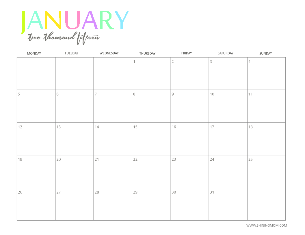 12 cute free printable calendars for 2014 free printable