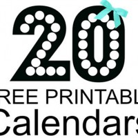 20 FREE Printable Calendars