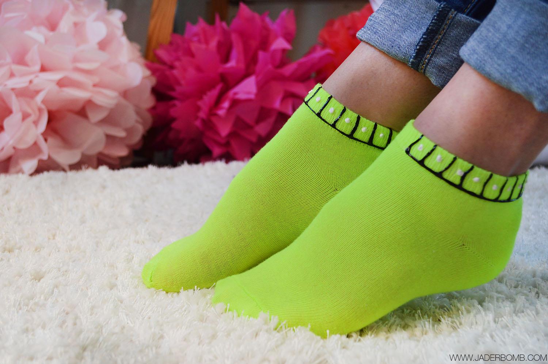 NEON GREEN SOCKS
