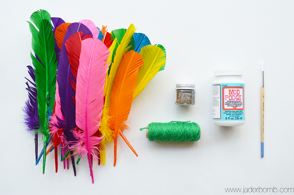 diy feather banner