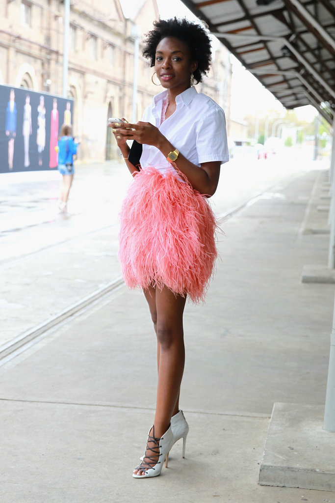 Pink Feather Skirt