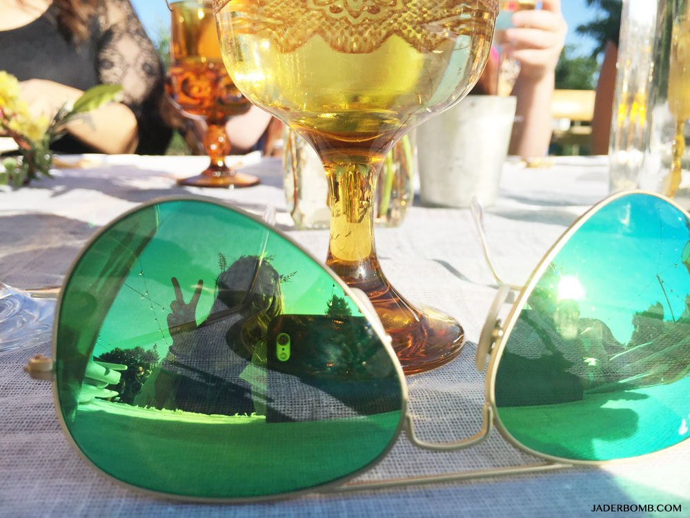 green ray bans