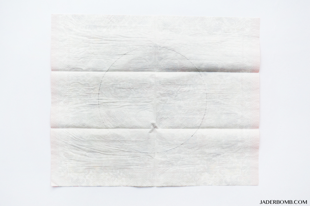 trace on paper napkin