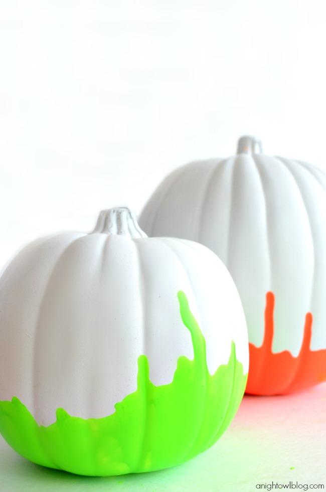 Neon-Paint-Dipped-Pumpkins-6