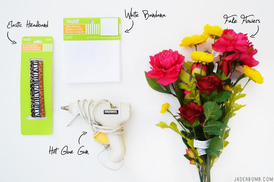 flower headband supplies