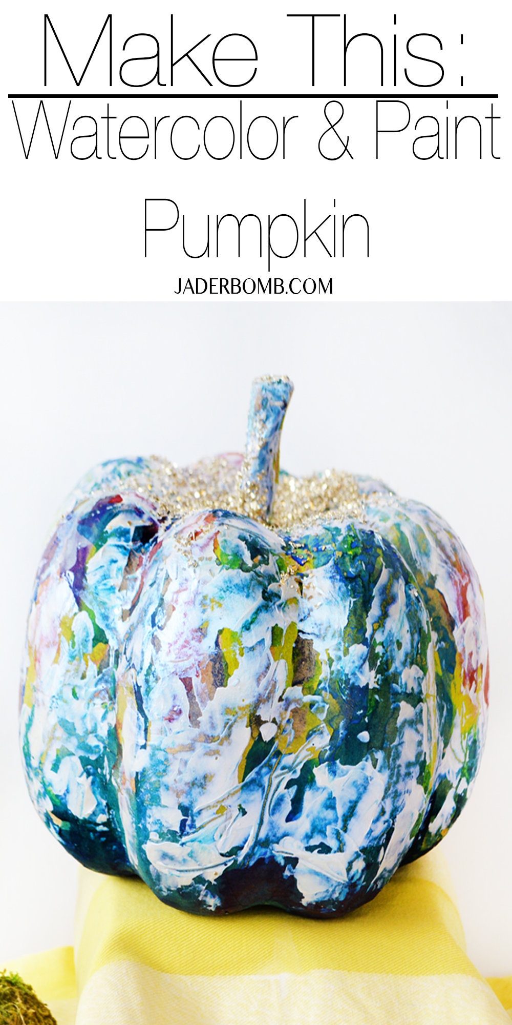 Watercolor and Paint Pumpkin
