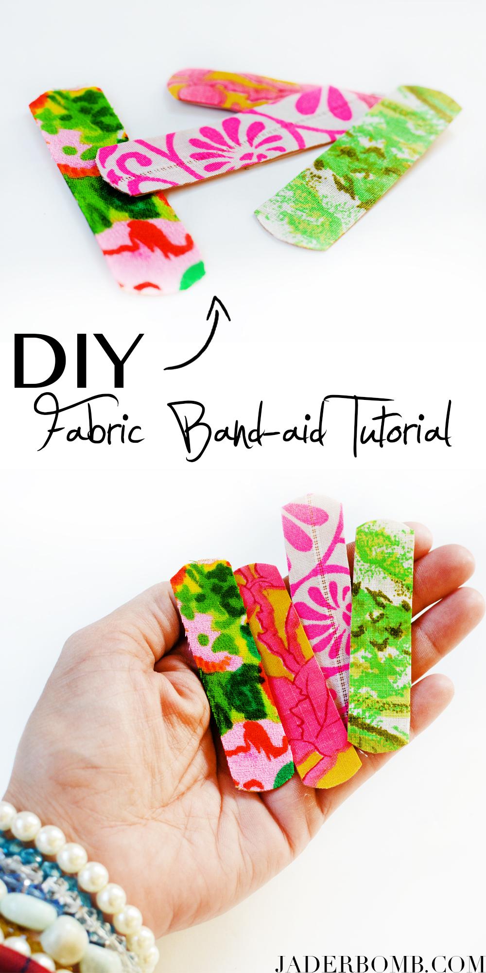 Fabric Band-Aids using Xyron