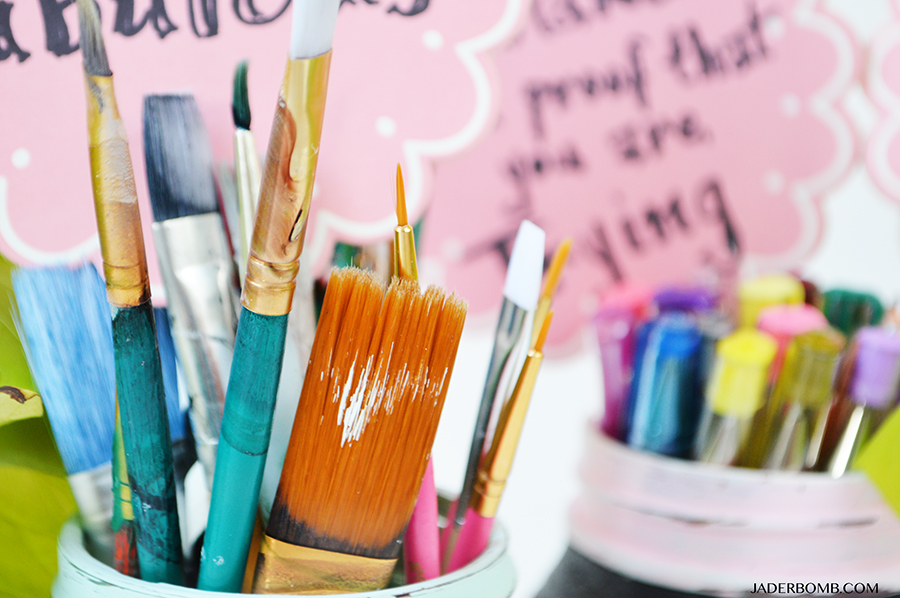 how to store paint brushes