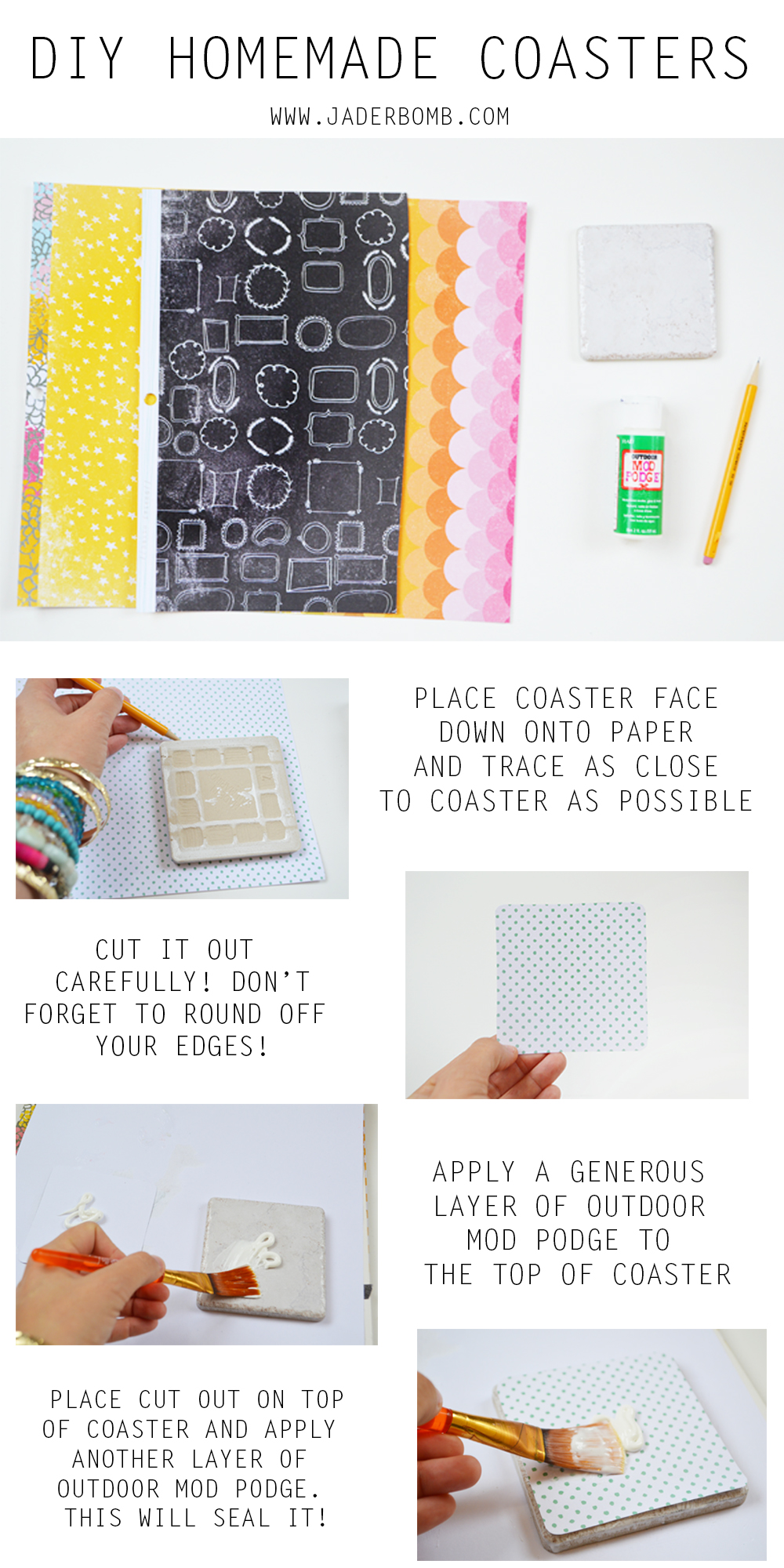 DIY HOMEMADE COASTERS