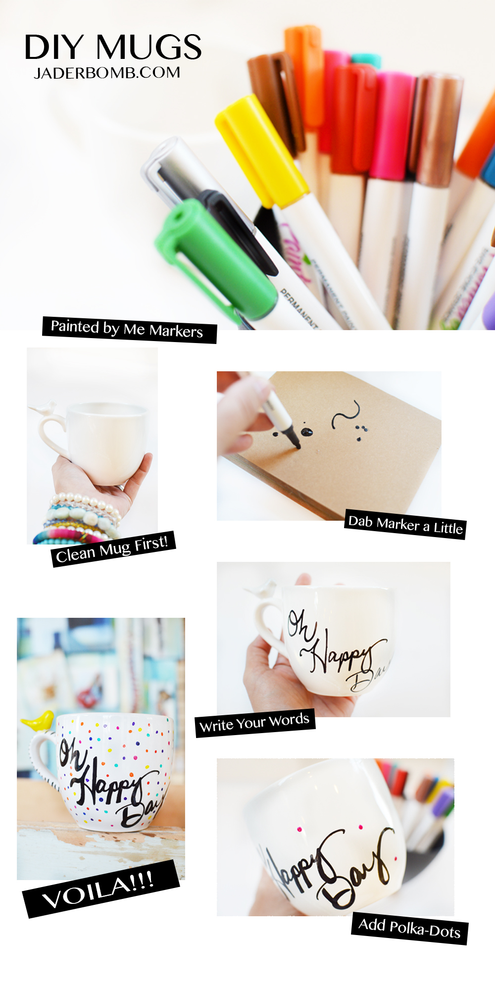 HOW TO PAINT ON MUGS