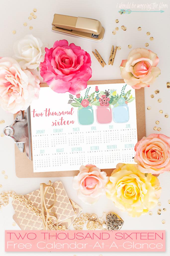 2016 free calendar printables