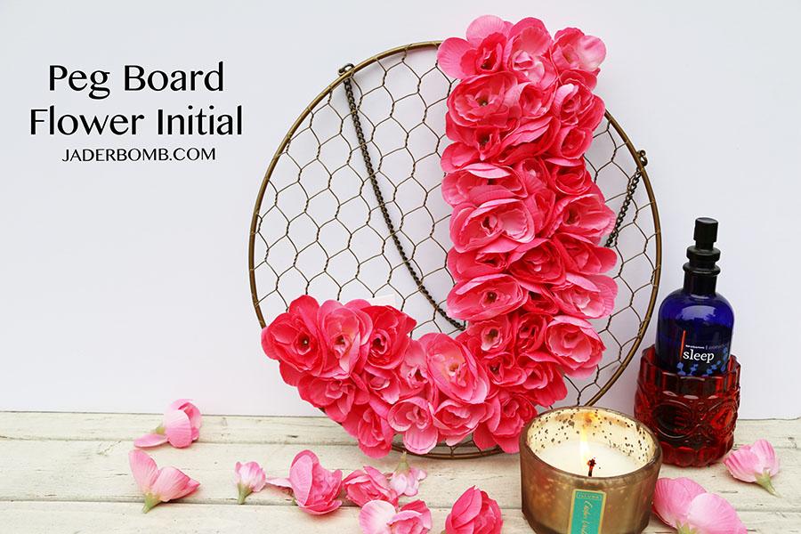 peg board flower initial