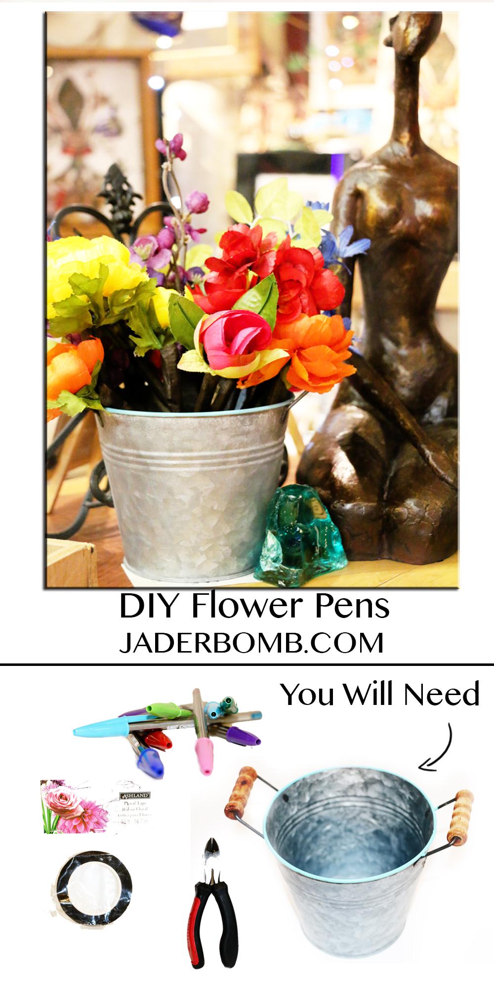 DIY FLOWER PEN TUTORIAL MICHAELS MAKERS